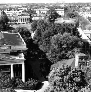 Pullen Hall, aerial view