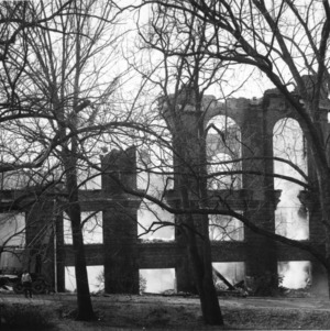 Pullen Hall morning after fire, February 1965