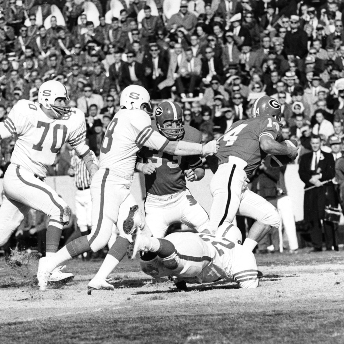 "The ""white shoes defense"" completed the tremendous 1967 campaign by pulling down Georgia in the Liberty Bowl."