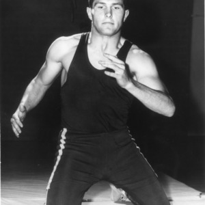 Robert Brawley of North Carolina State College, outstanding wrestler of 1964 Atlantic Coast Conference tournament.