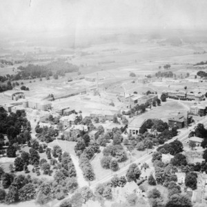 Campus of NC State College with part of the experiment station farms shown
