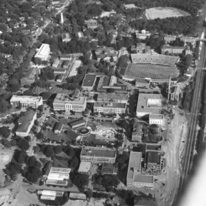 Aerial photograph of North Carolina State University campus