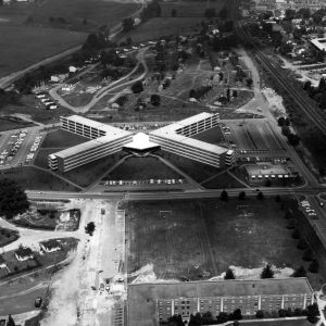 Aerial view of Bragaw Hall