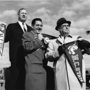 Roy Clogston, William Friday, and Walker Martin at groundbreaking for Carter Stadium