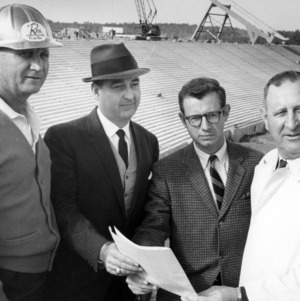 Looking over the construction of Carter-Finley Stadium