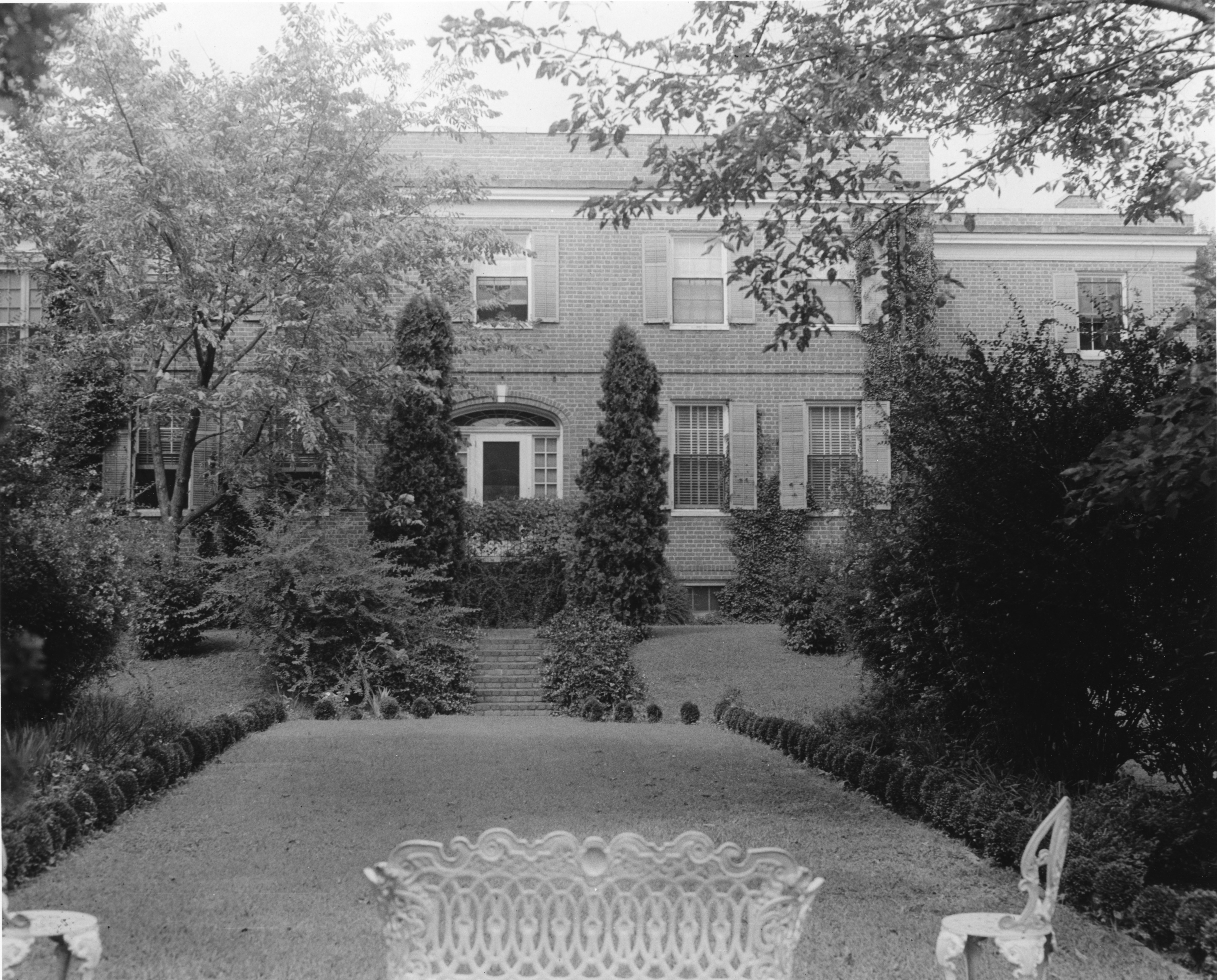 Rear view of Chancellor's residence, North Carolina State College