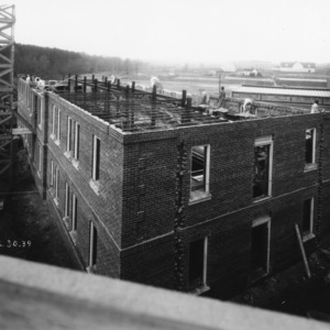 Clark Hall under construction, North Carolina State College, March 30, 1939.