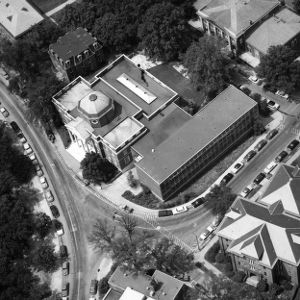 Overhead view of Brooks Hall