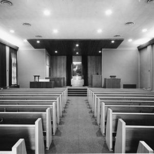 Interior view of Danforth Chapel, YMCA Building, North Carolina State College