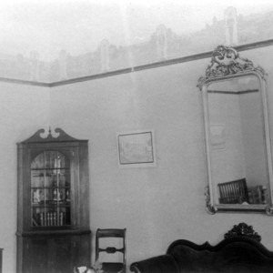 Interior of Unnamed Building, decorated for Engineers' Fair