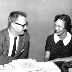 Gerald O. T. Erdahl with woman