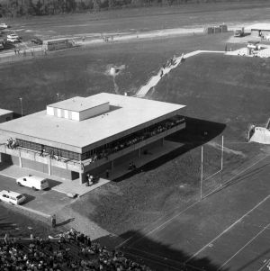 Finley Fieldhouse, aerial shot