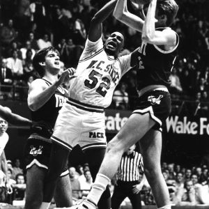 Chucky Brown battles for a rebound against Vermont.