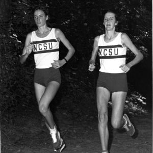 North Carolina State University's All-American cross country runners Julie Shea (left) and Mary Shea (right).
