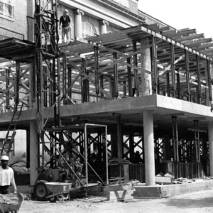 Ricks Hall, addition construction