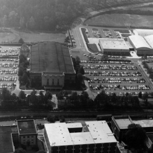 Reynolds Coliseum and surrounding area, aerial view