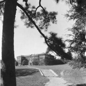 View looking from the Court of North Carolina toward the back of Winston Hall, North Carolina State College