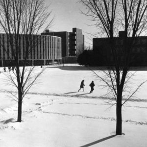 Harrelson Hall, snow