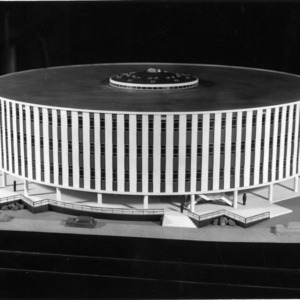 Architectural model of Harrelson Hall, North Carolina State College