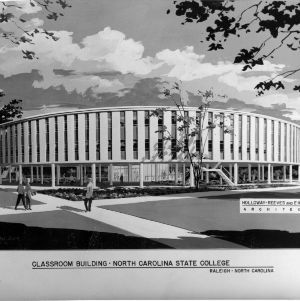 Architectural drawing of Harrelson Hall
