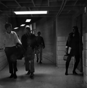Harrelson Hall, hallway between classes