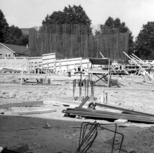 Harrelson Hall, under construction