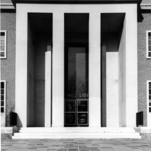 Entrance to D. H. Hill Jr. Library, North Carolina State College