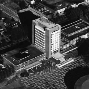 D. H. Hill Jr. Library, aerial view