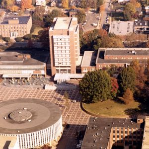 D. H. Hill Library, aerial view