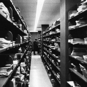 Periodicals shelves, D. H. Hill Jr. Library