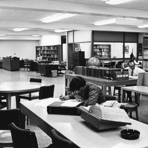 Study and reference area, D. H. Hill Library.