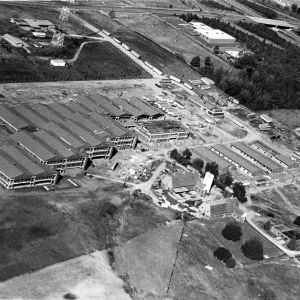 Aerial view of North Carolina State University College of Veterinary Medicine, November 8, 1981