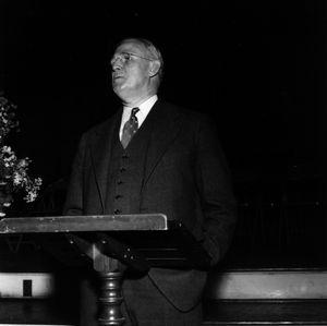 John W. Clark giving speech at Forestry Foundation meeting