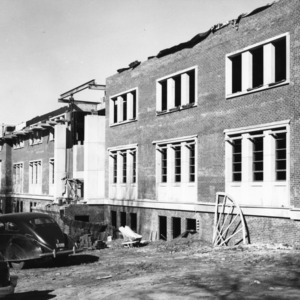 D. H. Hill Jr. Library, East Wing construction
