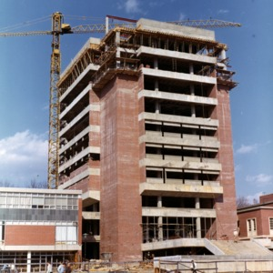 D. H. Hill Library, Tower construction