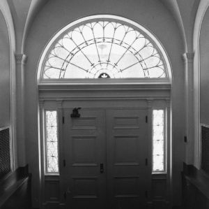 Holladay Hall, front doorway