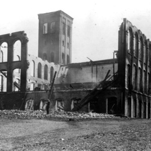 Tompkins Hall, fire damage