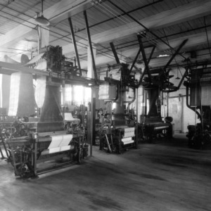 Tompkins Hall, weaving room
