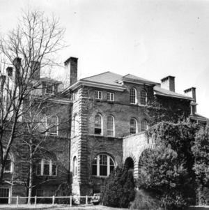 Holladay Hall, North Carolina State College's original building, is the adminsistrative headquarters of the institution.