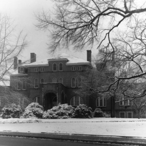 Winter view of Holladay Hall, North Carolina State College
