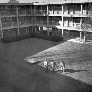 E. S. King Village, courtyard