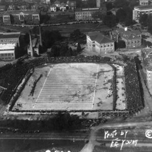 Aerial view of Riddick Stadium during State-Carolina game