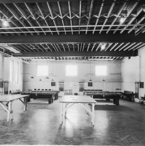 Recreation room in the YMCA Building, North Carolina State College