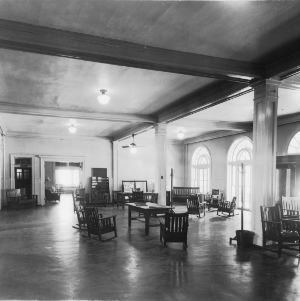 Lounge in YMCA Building, North Carolina State College