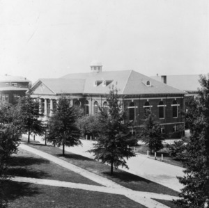 Leazar Hall, birds eye view looking southwest