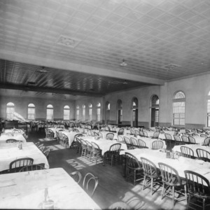 Dining room in Leazar Hall, North Carolina State College