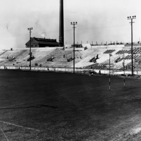 Riddick Stadium, construction of the west stands