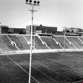 Riddick Stadium, view of the west stands
