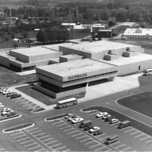 Bird's-eye view of Jane S. McKimmon Center, North Carolina State University