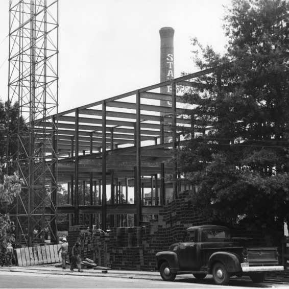 The Engineering Laboratories Building now under construction, is located south of Daniels Hall, between the power plant, the laundry, and the Zoology Building.